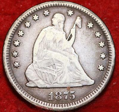 1875 Philadelphia Mint Silver Seated Liberty Quarter