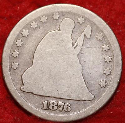 1876-CC Carson City Mint Silver Seated Liberty Quarter