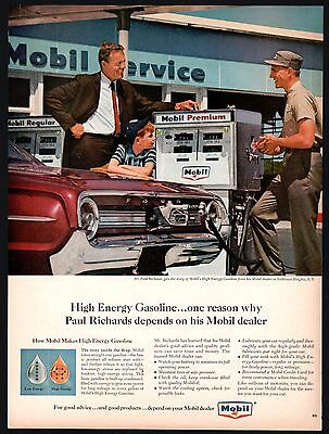 1964 MOBIL Gas Station Gasoline Pump Yorktown Heights NY Ford Galaxie 500XL