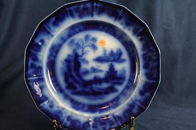 """MELLOR & VENABLES FLOW BLUE 9- 1/4""""  DINNER PLATE BEAUTIES OF CHINA set of 6"""