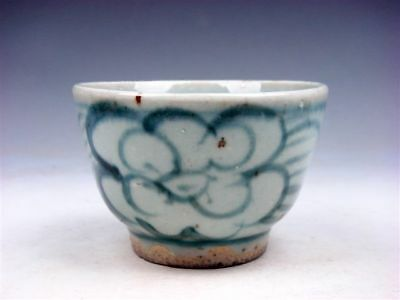 Antique QING Dy Blue&White Porcelain Flower Blossoms Hand Painted Cup #09071804