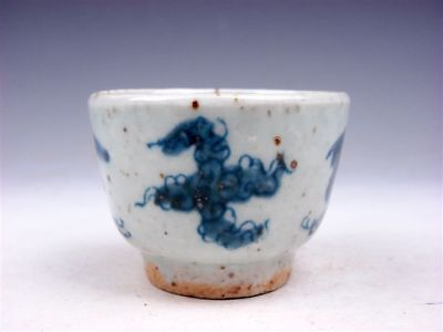 Antique Blue&White Porcelain Flying Birds Patterns Hand Painted Cup #09071801