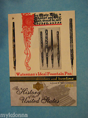Fountain Pen Lewis E. Waterman IDEAL Collector Card Pen History vtg 2004 Photo