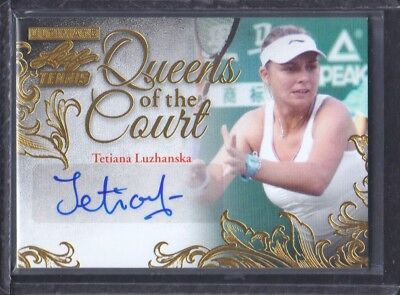 2015 Leaf Ultimate Tennis Queens Of The Court Auto Gold Tetiana Luzhanska 02/10
