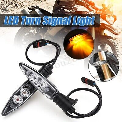 2Pcs LED Turn Signal Indicator Lights For BMW S1000RR R1200GS HP4 F800GS R1200R
