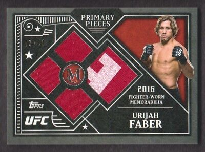2016 Topps UFC Museum Collection Primary Quad Relics # Ppq-Uf Urijah Faber 13/50