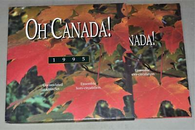 Oh Canada 1995 Uncirculated Mint Set - 6 Coins with Peacekeeping Memorial Dollar