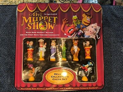 2003 The Muppet Show Deluxe Edition Collector's Chess Set COMPLETE