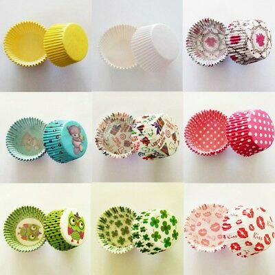 100Pcs/lot Grease-proof Paper Baking Cups Christmas Muffin Kitchen Cupcake Cases