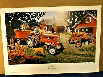 "Sonnenberg Print ""farm Yard Partners"" -  Allis Chalmers D15 Tractor - Print Only"