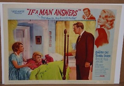 6 different Sandra Dee Bobby Darin If A Man Answers Lobby Card (s) 1 2 3 5 6 7