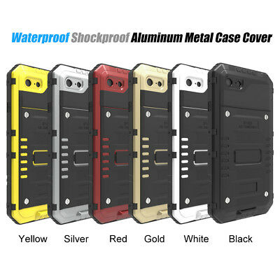 For iPhone XS iPhone X Waterproof Shockproof LUPHIE Aluminum Metal Case Cover