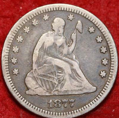 1877-S San Francisco Mint Silver Seated Liberty Quarter