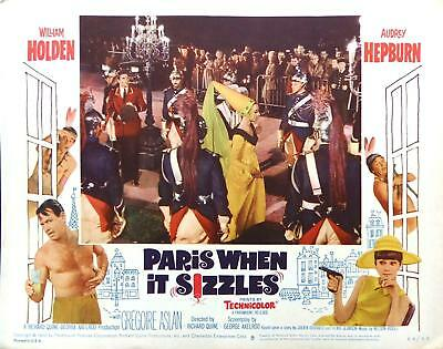 PARIS WHEN IT SIZZLES Lobby Card #8 Audrey Hepburn as Fairytale Princess at Ball