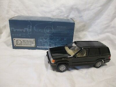 """Die Cast ~ Brookfield 1994 Jeep Grand Cherokee Coin Bank - 7"""" Long"""