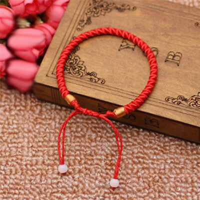 2pcs Adjustable Red Chinese Lucky Red Thread Good Luck Rope Feng Shui Bracelet