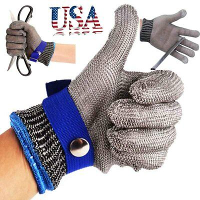 Safety Cut Proof Stab Resistant Stainless Steel Gloves Metal Mesh Butcher Gloves
