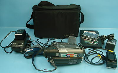 Sony CCD-TR96 Handycam Video Camera Recorder Camcorder 30X Zoom W/ Carrying Case