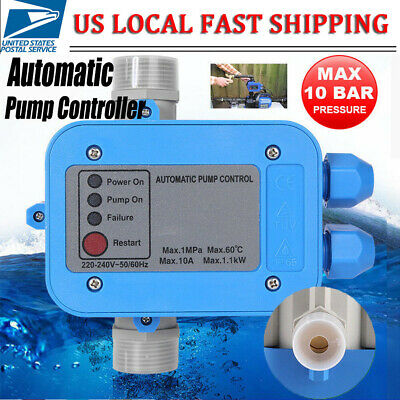 US Automatic Electronic Switch Control Water Pump Pressure Controller 110V TOP