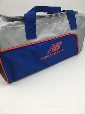 New Balance Training Day Gym Duffel Small Bag - Grey, Orange and Blue, Brand New