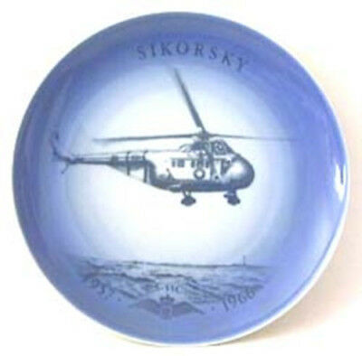 Bing & Grondahl Aviation Airplane Plate 1957-1966 B&G Sikorsky Helicopter