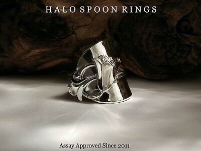 Norwegian Silver Spoon Ring With Bluebell Detail Perfect And Unique Gift Idea