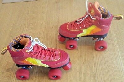 Child's Rio Roller Salsa Roller Quad Skates, Red, UK Size 2