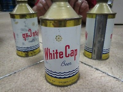 White Cap Beer Cone Top Beer Can