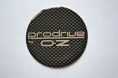 Prodrive By OZ Mazda PZ / Impreza WRX Domed 55mm Wheel Centre Badges (Set Of 4)