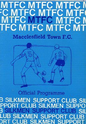 Macclesfield Town  V  Congleton Town 15/10/1983 Fa Cup Programme