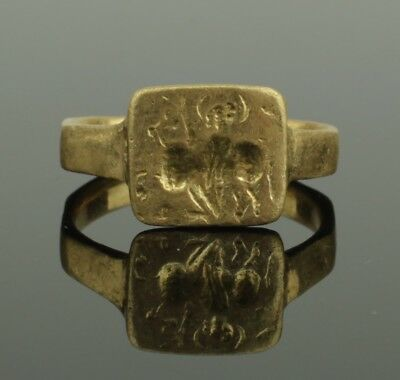 ANCIENT GREECE GOLD SEAL RING - Circa 800-600 BC