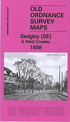 Old Ordnance Survey Map Sedgley South East & West Coseley 1938