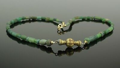 Ancient Roman Gold And Glass Bead Necklace - Circa 2Nd Century Ad