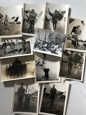 Lot Of 80 Old Vintage Black White Snapshot Photographs Army MILITARY LIFE