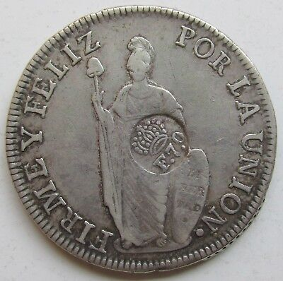 Philippines, Spanish Colonial (1832-34) F.7.o Countermark on 1833 Peru 8 Reales