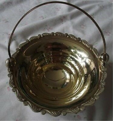 Imperial Russian Pure Silver Sterling with gold plated Handle Basket Bowl
