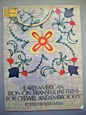 Vintage 1970's Early American iron on transfers 75 designs