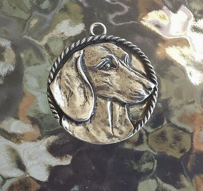 PUREBRED DOG PET ANIMAL JEWELRY 1 DACHSHUND PEWTER PENDANT or POCKET COIN NEW.