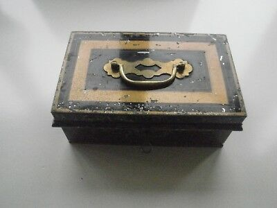 Old Cash Box With Key.