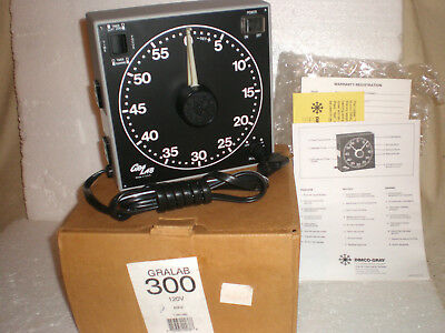 "Gralab Model 300~60 Minute Photography Enlarging Darkroom Timer 7-1/2"" New In Bo"