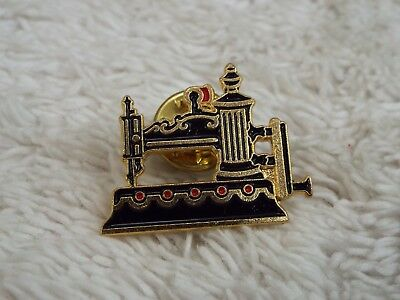 Vintage CLOTILDE Enamel 1864 Globe Sewing Machine #9 Tac Pin (A43)