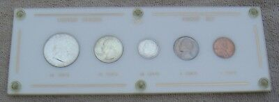 United States Awesome 1950 Five Coin Silver Encased Proof Set Half Quarter Dime