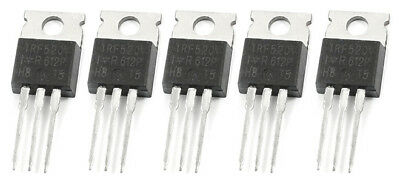 5x IRF520 N-Channel Hexfet Power MOSFET Transistor Fast Switching
