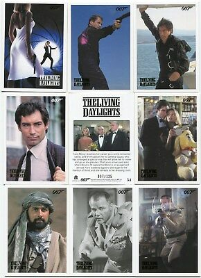 2016 James Bond Archives Spectre Edition 55 card The Living Daylights GOLD Set