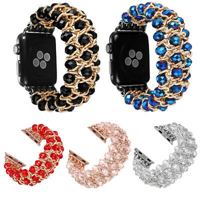 iWatch Bling Pearl Beads Strap Bracelet Band For Apple Watch 4/3/2/1 44/42/38mm