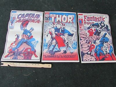 Comic Book Posters Fantastic Four Captain America Thor from the 1970's (3)