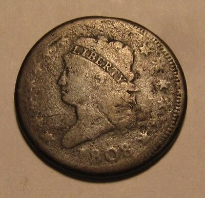 1808 Classic Head Large Cent Penny - Circulated Condition - 46SA