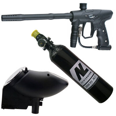 New Legion Rush Paintball Markierer Sparpaket inkl. JT Hopper & 0,4 L HP System