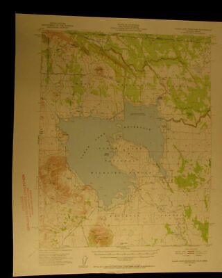 Clear Lake Reservoir Oregon California 1952 vintage USGS Topographical chart map
