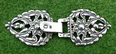 SMALL FRENCH PIERCED (950) SILVER BUCKLE c1819 - 0.46oz